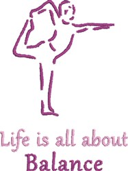 Yoga Balance embroidery design
