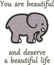 Elephant Lover embroidery design