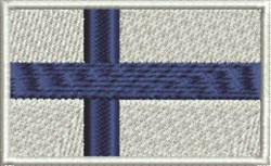 Finland Flag embroidery design