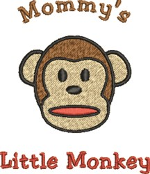 Mommys Little Monkey embroidery design