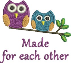 Made For Each Other embroidery design
