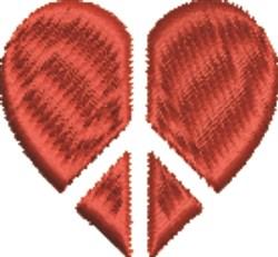 Peace Heart embroidery design