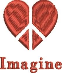 Peace Heart Imagine embroidery design