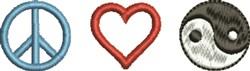 Peace Love Balance embroidery design