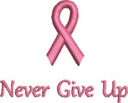 Pink Ribbon Have Faith embroidery design
