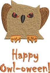 Happy Owl-Oween! embroidery design