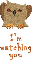 Scary Owl Im Watching embroidery design