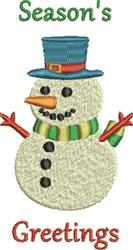 Seasons Greetings Snowman embroidery design