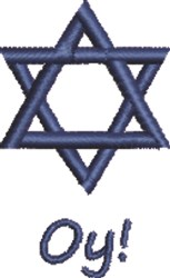 Star of David Oy! embroidery design