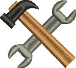 Hammer & Pliers embroidery design