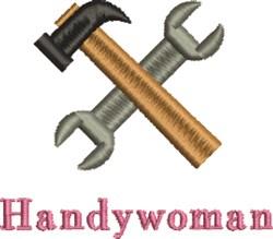 Hammer & Pliers Handywoman embroidery design