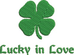 Lucky in Love Clover embroidery design