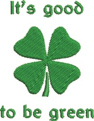 Green Shamrock embroidery design
