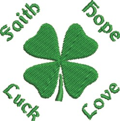 Faith Shamrock embroidery design