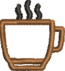 Coffee Outline embroidery design