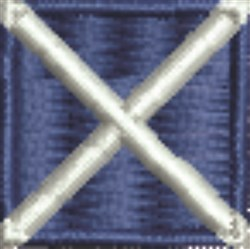 Nautical Flag M Mike embroidery design