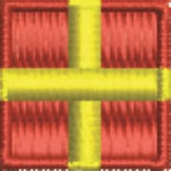 Nautical Flag R Romeo embroidery design