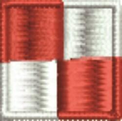 Nautical Flag U Uniform embroidery design