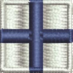Nautical Flag X Xray embroidery design