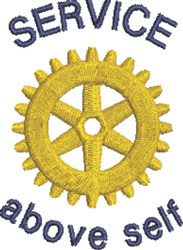 Rotary Service embroidery design