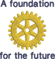 Rotary Foundation embroidery design