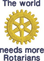 Rotary World embroidery design