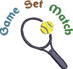Tennis Game Set embroidery design