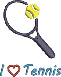 Tennis Heart embroidery design