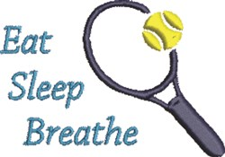 Tennis Eat embroidery design
