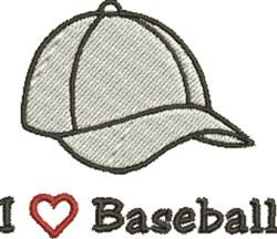 I Love Baseball embroidery design