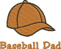 Baseball Cap Dad embroidery design