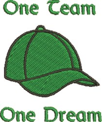 One Team One Dream embroidery design