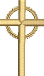 Crucifix embroidery design