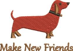 Friendly Dachshund embroidery design