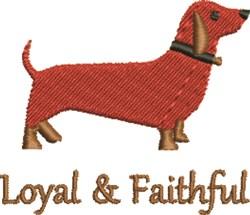 Loyal Dachshund embroidery design