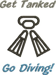 Get Tanked Go Diving! embroidery design