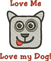Love My Dog embroidery design
