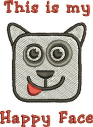 Happy Face Dog embroidery design