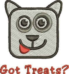 Got Dog Treats? embroidery design