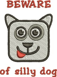 Silly Dog Face embroidery design
