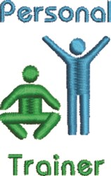Personal Trainer embroidery design