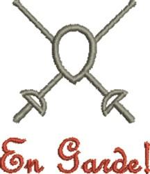 Fencing En Garde! embroidery design
