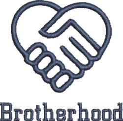 Brotherhood Handshake embroidery design