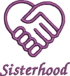 Sisterhood Handshake embroidery design