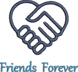 Friends Forever embroidery design