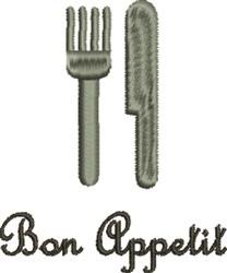 Bon Appetit Flatware embroidery design