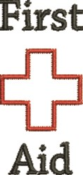 First Aid Symbol embroidery design