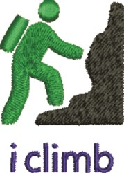 Rock Climber embroidery design