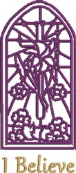 Stained Glass Window embroidery design