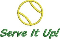 Serve It Up Tennis embroidery design
